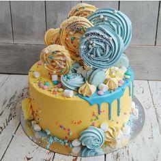 Пусть ваш день будет таким же ярким , как и этот детский торт - фейерверк🎉🎉🎉