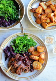 Duck Confit with Cherry Sauce & Duck Fat Roasties by Karen Burns-Booth