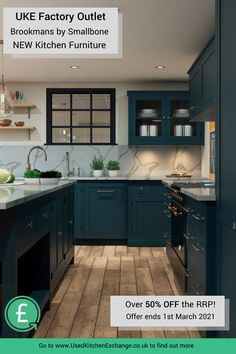Save over 50% on Brand New luxury cabinetry in our latest UKE Factory Outlet Offer!   Shop this EXCLUSIVE offer for new cabinetry straight from the workshop - a luxury painted kitchen for less.   This offer is available in 3 Farrow and Ball colours: Railings, Hague Blue and Ammonite.   To find out more click through to our site or call 0151 541 9410 Used Kitchen Cabinets, Kitchen Units, Kitchen Paint, Kitchen Reno, New Kitchen, Kitchen Ideas, Kitchen Inspiration, Interior Inspiration, Smallbone Kitchens