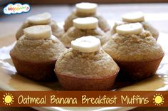 Banana Oatmeal Breakfast Muffins - a great grab and go breakfast idea MOMables.com