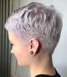 Neat Short Pixie Cut For Fine Hair Short Thin Hair, Short Hair Older Women, Short Hair With Layers, Short Hair Styles, Long Hair, Pixie Haircut Styles, Short Blonde, Blonde Pixie Cuts, Short Pixie Haircuts