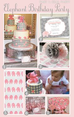 Girly Elephant Birthday Theme