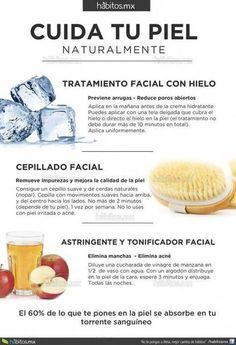CUIDA TU PIEL NATURALMENTE  Nos encanta :) We Love :) #BeautyHacksForTeens Beauty Care, Beauty Skin, Hair Beauty, Natural Beauty Tips, Natural Skin Care, Skin Tips, Skin Care Tips, Facial Tips, Beauty Hacks For Teens