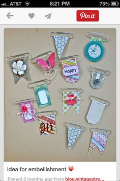 Cute paperclip banners! Bookmarks. Gift tags.