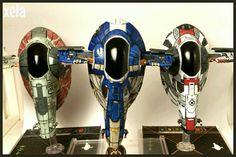 Firesprays de X-Wing Miniatures game pintados por Xela
