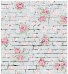 Leowefowa Floral Backdrops Shabby Chic Flowers on White Brick Wall Backdrops for Photography Interior Tv Wall Decoration Wallpaper Girls Happy Mother's Day Photo Background Studio Props Picture Backdrops, Vinyl Backdrops, Flower Wall Backdrop, White Backdrop, Background For Photography, Photography Backdrops, Photography Studios, Photography Marketing, Rose Photography