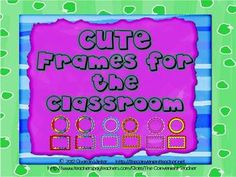 Manage your classroom with these cute frames created by The Convenient Teacher.  These frames are in square and round shapes and are editable.  Thi...