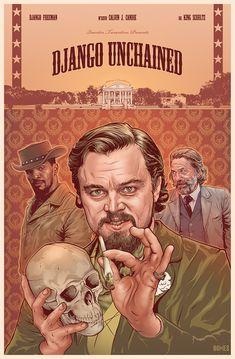 Django Unchained by Benjamin Jones Django Unchained, Tarantino Films, Quentin Tarantino, Poster S, Movie Poster Art, Kino Film, Alternative Movie Posters, Cinema Posters, Chef D Oeuvre