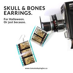 unique handcrafted jewelry, for men and women by tomatedepingles 35mm Film, Skull And Bones, Making Out, Handcrafted Jewelry, Happy Halloween, Counting, I Shop, October, Etsy Seller