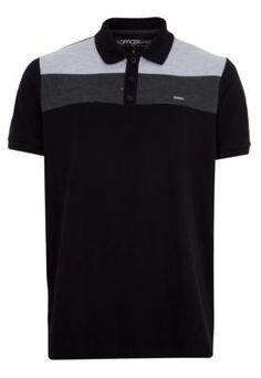 m officer 130 Camisa Polo, Polo Shirt, Mens Tops, Shirts, Fashion, Stripes, Black, Stuff Stuff, Moda