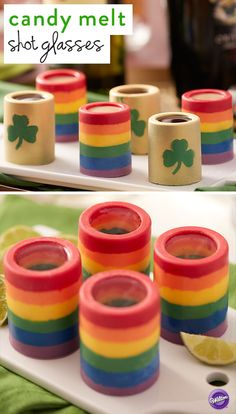 Perfect for serving drinks or dessert, these edible candy shot glasses are a fun way to get in the St. Patrick's Day spirit! Kids and adults alike are sure to get a kick out of these edible cups, and you'll love how easy they are to make.