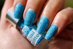 Neon Glitter nails