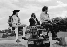 Magister Kubrick and Ryan O Neal on set of Barry Lyndon 1975