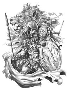 God Tattoos, Warrior Tattoos, Eagle Tattoos, Body Art Tattoos, Tattoos For Guys, Sleeve Tattoos, Tattoo Art, Warrior Tattoo Sleeve, Angel Warrior Tattoo