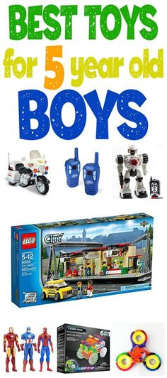 What're The Best Toys For 5 Year Old Boys? A gift guide tailored just for kindergarten aged boys!