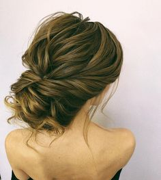 75 Drop-dead gorgeous wedding hairstyles for a romantic wedding - updo hairstyles, French chignon hairstyles,messy updo wedding hairstyle #hairstyles #wedddinghair #updo #messyupdo #weddinghairstyles