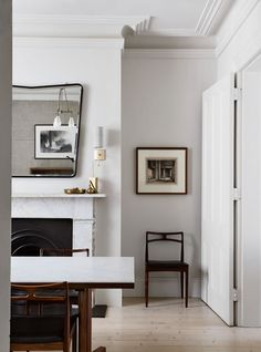 Dining room in a historical townhouse tenovation by Templeton Architecture | Photo by Sharyn Cairns