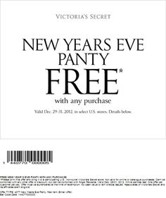 victoria secrets free new years eve panty printable coupon