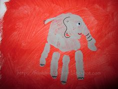 Fun Handprint and Footprint Art : Handprint & Footprint Animal Canvas Art {Reader Submission} Craft Activities, Preschool Crafts, Fun Crafts, Crafts For Kids, Arts And Crafts, Santa Crafts, Fingerprint Art, Footprint Crafts, Handprint Art