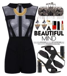 """A Beautiful Mind"" by oshint ❤ liked on Polyvore featuring Tom Ford, Chanel, A.V. Max, Pieces and Alexander McQueen"