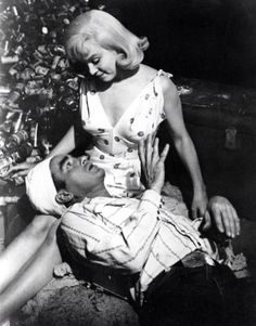 Marilyn Monroe and Montgomery Clift in a scene from The Misfits, 1961.