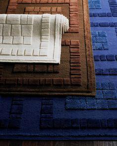 "Bergamo Blocks Rug, 8'3"" x 11'6"", Chocolate"
