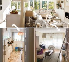 """If you look at the """"before"""" pictures, you can't tell this Spanish apartment from our familiar Soviet-style flats (especially the kitchen). But the ✌Pufikhomes - source of home inspiration Apartment, Inspiration, Spanish Apartment, House Tours, Furniture, House, Home Decor, Cottage, Entryway"""