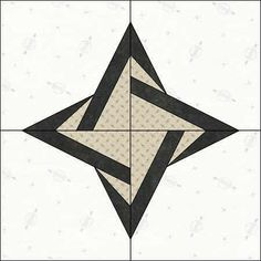 """Block 65 of #100quiltblocksin100days A tiny """"Twisted Star' block for today. .. I am participating in the #the100dayproject by designing…"""