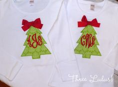 Christmas Shirt Girls Christmas Shirt Monogrammed by threelulus, $20.00