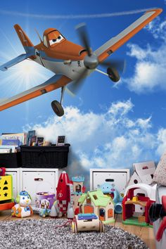1000 images about kids wallpaper on pinterest photo for Disney planes wallpaper mural