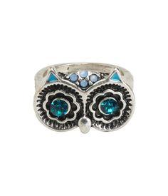 Metallic Owl Ring fr jewelry #trends 2014 jewelry trends 2013