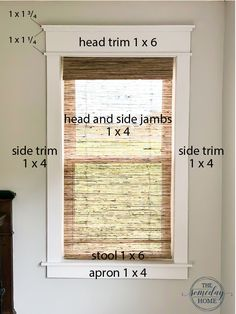 Sometimes the simplest projects have the biggest impact- and that's exactly the case with this project. Our super simple DIY farmhouse window trim completely elevated the look of the entire room. Craftsman Window Trim, Interior Window Trim, Diy Exterior Window Trim, Craftsman Interior Doors, Black Interior Doors, Farmhouse Trim, Farmhouse Windows, Farmhouse Decor, Farmhouse Remodel