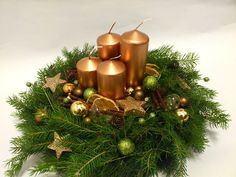 Adventní věnec, Advent wreath Christmas Advent Wreath, Christmas Scenes, Christmas Candles, Christmas Centerpieces, Christmas Holidays, Advent Wreaths, Nordic Christmas, Modern Christmas, Yule Decorations