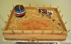 Perfect cake for your little bull rider!