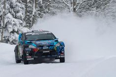 Ken Block / Hoonigan Racing Division getting a little sideways on the snow while testing for the Rally America Sno*Drift rally this friday