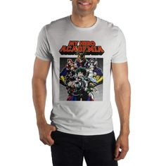 d74655adcef75 My Hero Academia Men s White T-Shirt Tee Shirt  fashion  clothing  shoes