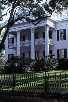 Old Southern Mansion - Stanton Hall  Natchez, Mississippi.