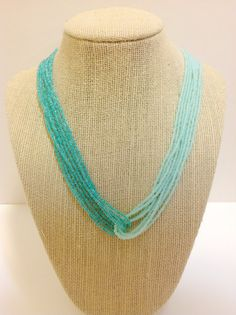 Ombre turquoise necklace ombre necklace aqua by StephanieMartinCo, $15.00