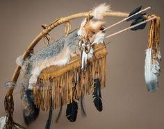 """Antiqued Navajo Bow & Arrow Quiver 42"""" -Grey Fox (48)"""