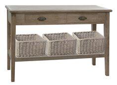 Consola Vintage Marne   Material: Madera Tropical   Mueble realizado en madera tropical y fibra vegetal.... Eur:277 / $368.41