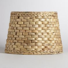 One of my favorite discoveries at WorldMarket.com: Natural Basket Table Lamp Shade