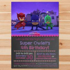PJ Masks Birthday Invite