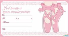 carte invitation anniversaire fille gratuite danseuse ballerine - Recherche Google
