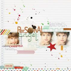 By Anna-Maria  Our new accomplice :)  Block-B overlays + button, chipboard & sticker  PP : EveryDay01 collection