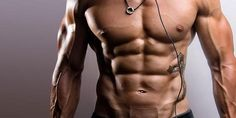 Shredded body with a low body fat and an amazing six pack.