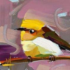 Angela Moulton - daily painting. http://angelamoulton.blogspot.com/2015/05/olive-warbler-painting.html