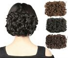 Curly Messy Bun Combs Chignon Scrunchie Updo Cover Hair Extensions as human Synthetic Curly Hair, Synthetic Hair Extensions, Clip In Hair Extensions, Ponytail Bun, Updo, Clip In Hair Pieces, Jumbo Braiding Hair, Messy Curly Bun, Blonde Ombre