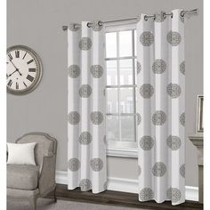 Sedgewick Textured Grommet Curtain Panel- Gray 84-in
