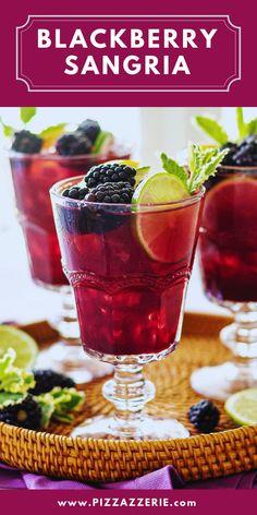 Blackberry Sangria, Blackberry Cake, Blackberry Recipes, Fun Cocktails, Summer Drinks, Fun Drinks, Beverages, Summer Parties, Best Cocktail Recipes