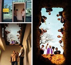 Mural on the ceiling of a smoking room